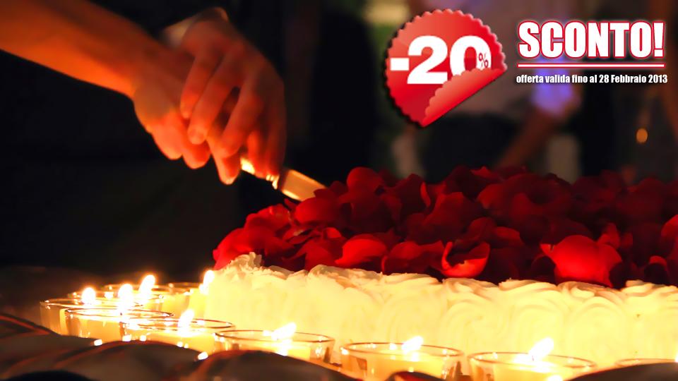 Promozione: Sconto del 20% sui servizi Video per Matrimoni!