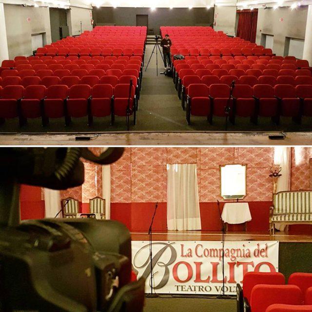 Pronti per registrare lo spettacolo teatrale della Compagnia del Bollito!hellip