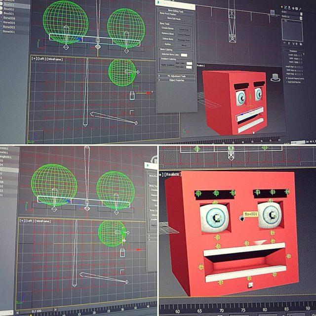 Faccia da cubo! facerigging rigging 3dstudiomax 3dstudio cube cutecube