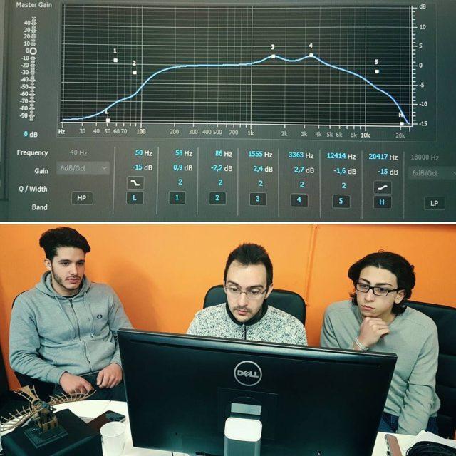 Sessione di Editing audio con gli studenti ospiti da noihellip