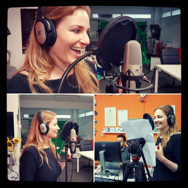 Voice over session with the amazing and beautiful astridrosenmay voiceoverhellip