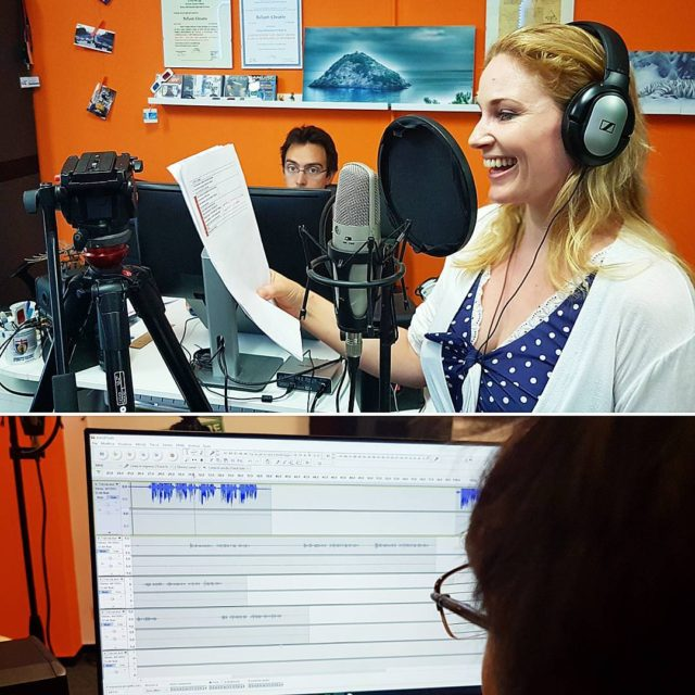 English voiceover with astridrosenmay yesterday! voiceover filmmaking videomaking wonderlandproduction audacityhellip