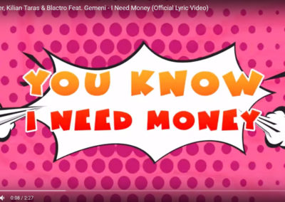 I need money – Lyrics Video